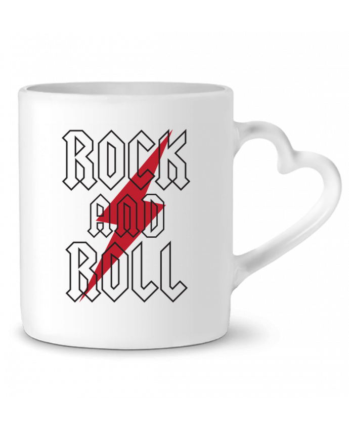 Taza Corazón Rock And Roll por Freeyourshirt.com