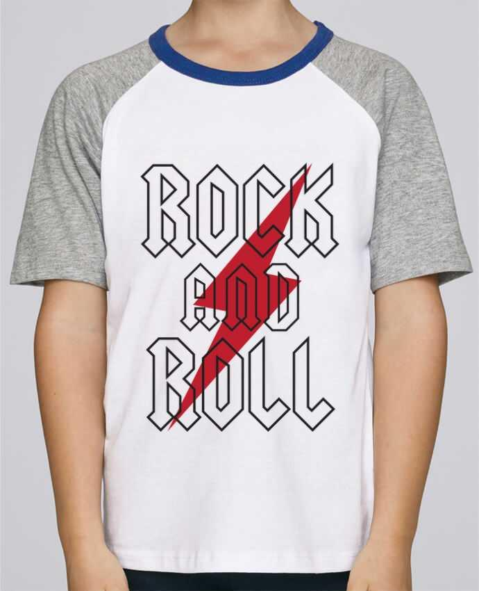 Camiseta de manga ranglan corta en contraste Stanley Mini Jump Short Sleeve Rock And Roll por Freeyourshirt.com