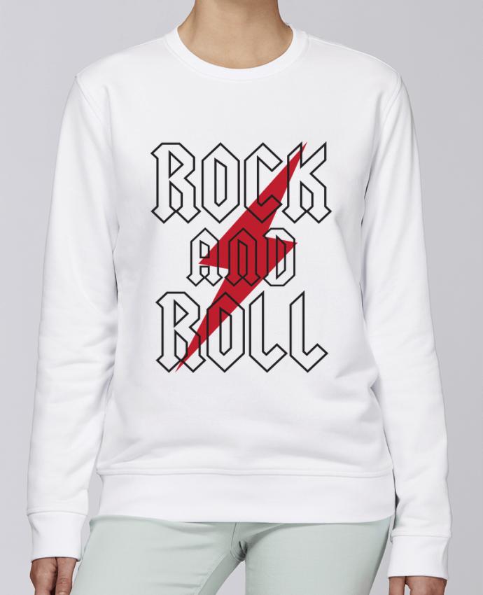 Sudadera básica manga pegada unisexo Stanley Stella Rise Rock And Roll por Freeyourshirt.com
