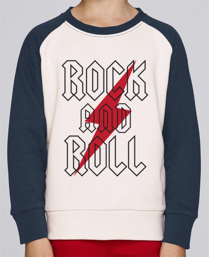 Sudadera Cuello Redondo Niño Stanley Mini Contraste Rock And Roll por Freeyourshirt.com