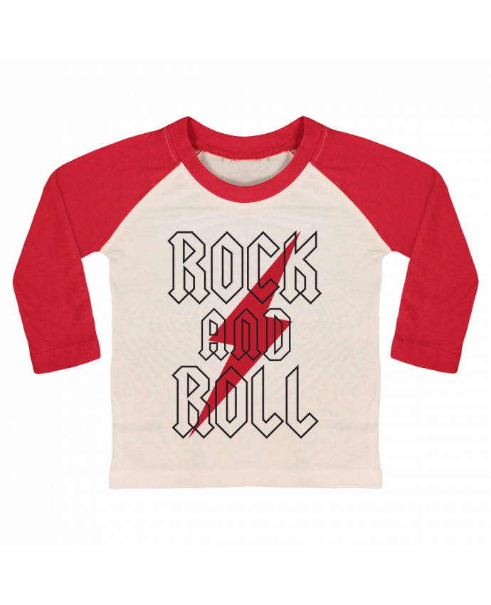Camiseta Bebé Béisbol Manga Larga Rock And Roll por Freeyourshirt.com