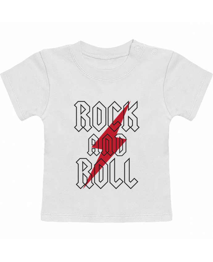 Camiseta Bebé Manga Corta Rock And Roll manches courtes du designer Freeyourshirt.com