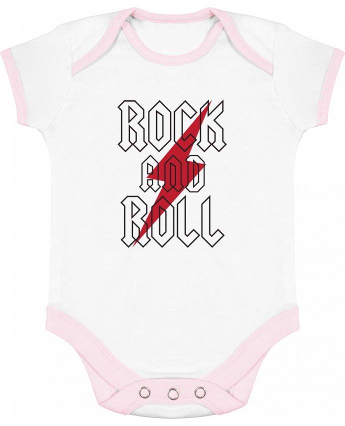 Body Bebé Contraste Rock And Roll por Freeyourshirt.com