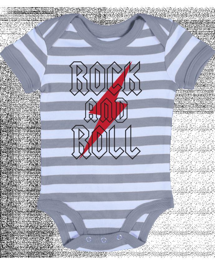 Body Bebé a Rayas Rock And Roll - Freeyourshirt.com