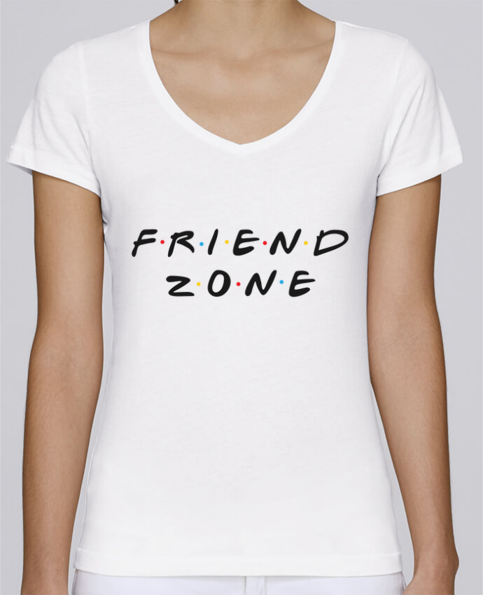 Camiseta Mujer Cuello en V Stella Chooses FRIENDZONE por tunetoo