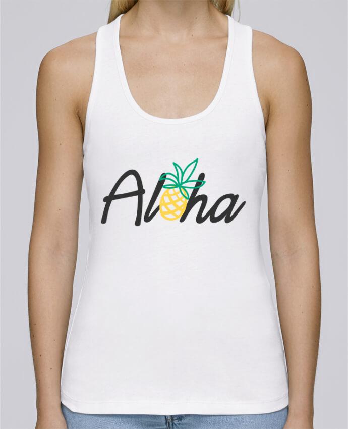 Camiseta de tirantes algodón orgánico mujer Stella Dreams Aloha por tunetoo en coton Bio