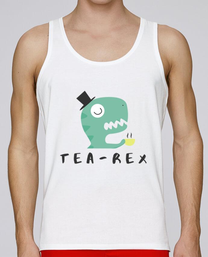 Camiseta de tirantes algodón orgánico hombre Stanley Runs Tea-rex por tunetoo 100% coton bio