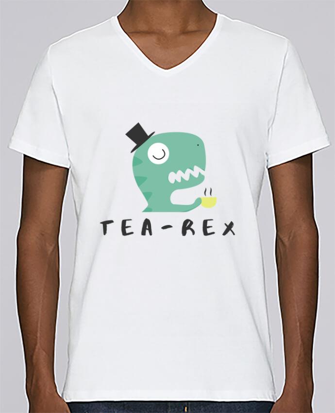 Camiseta Hombre Cuello en V Stanley Relaxes Tea-rex por tunetoo