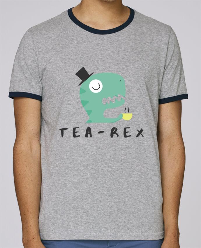 Camiseta Bordes Contrastados Hombre Stanley Holds Tea-rex pour femme por tunetoo