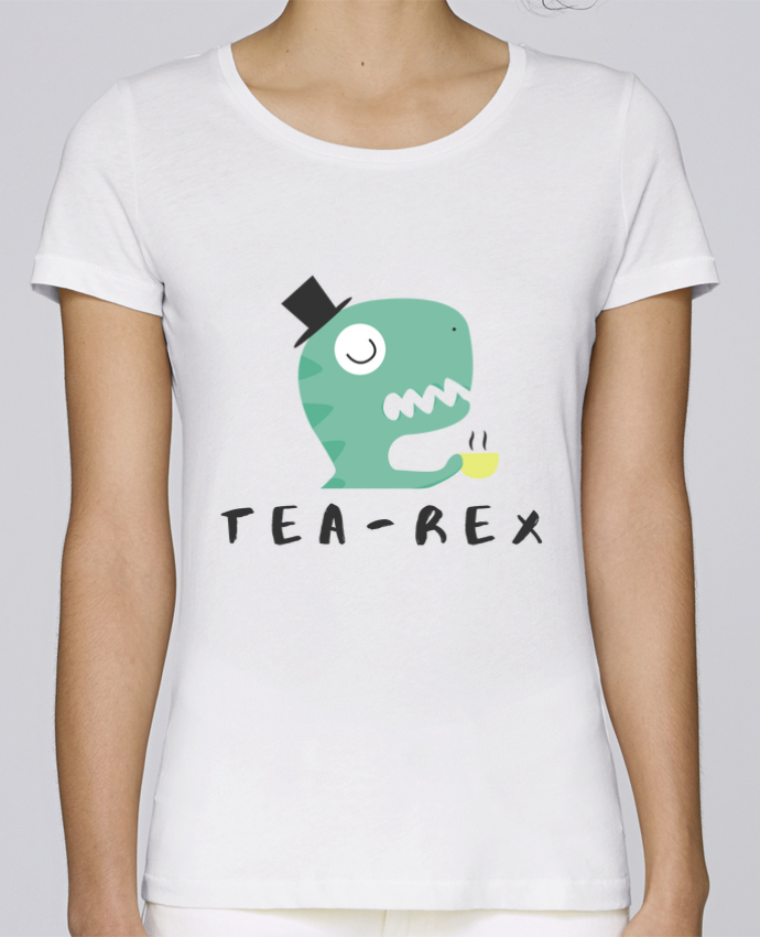 T-shirt  Femme Brodé Tea-rex por tunetoo