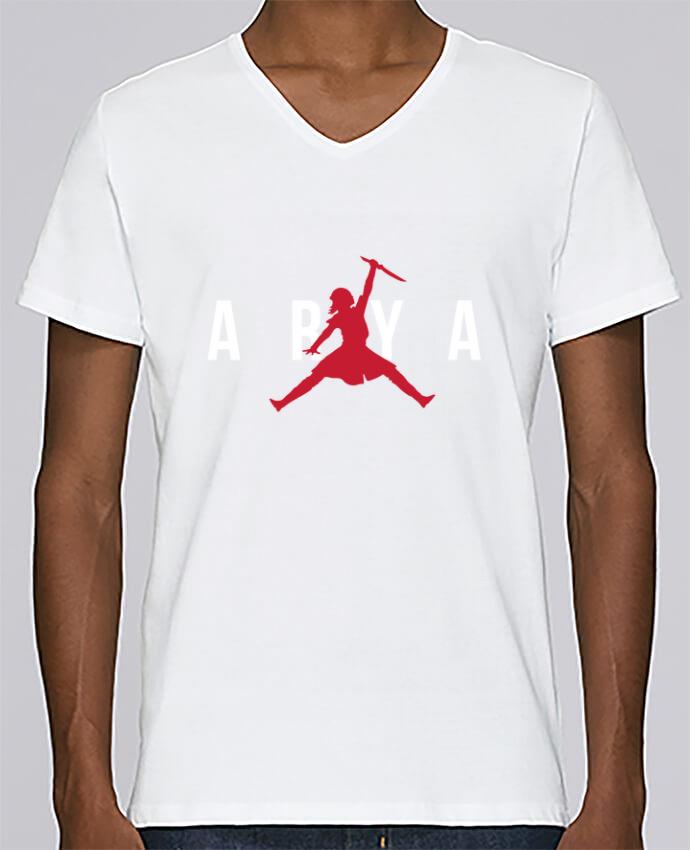 Camiseta Hombre Cuello en V Stanley Relaxes Air Jordan ARYA por tunetoo
