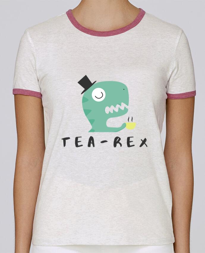 Camiseta Mujer Stella Returns femme brodé Tea-rex por tunetoo