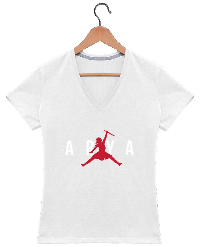 Camiseta Mujer Cuello en V Air Jordan ARYA por tunetoo
