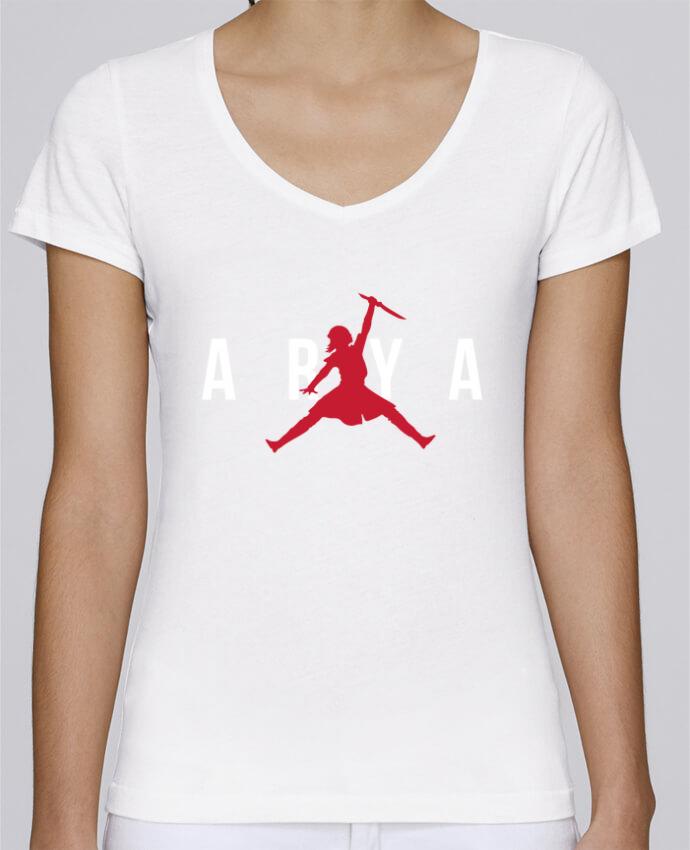 Camiseta Mujer Cuello en V Stella Chooses Air Jordan ARYA por tunetoo