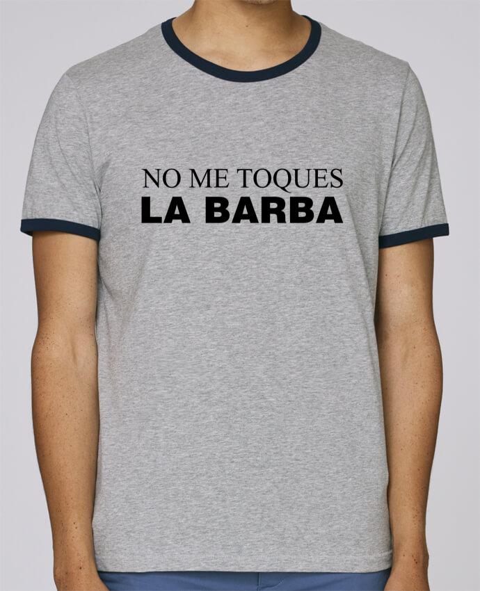 Camiseta Bordes Contrastados Hombre Stanley Holds No me toques la barba pour femme por tunetoo