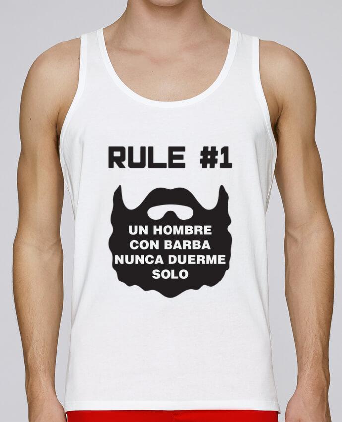 Camiseta de tirantes algodón orgánico hombre Stanley Runs Barbudo - Un hombre con barba nunca duerme solo por tunetoo 100% coton bio