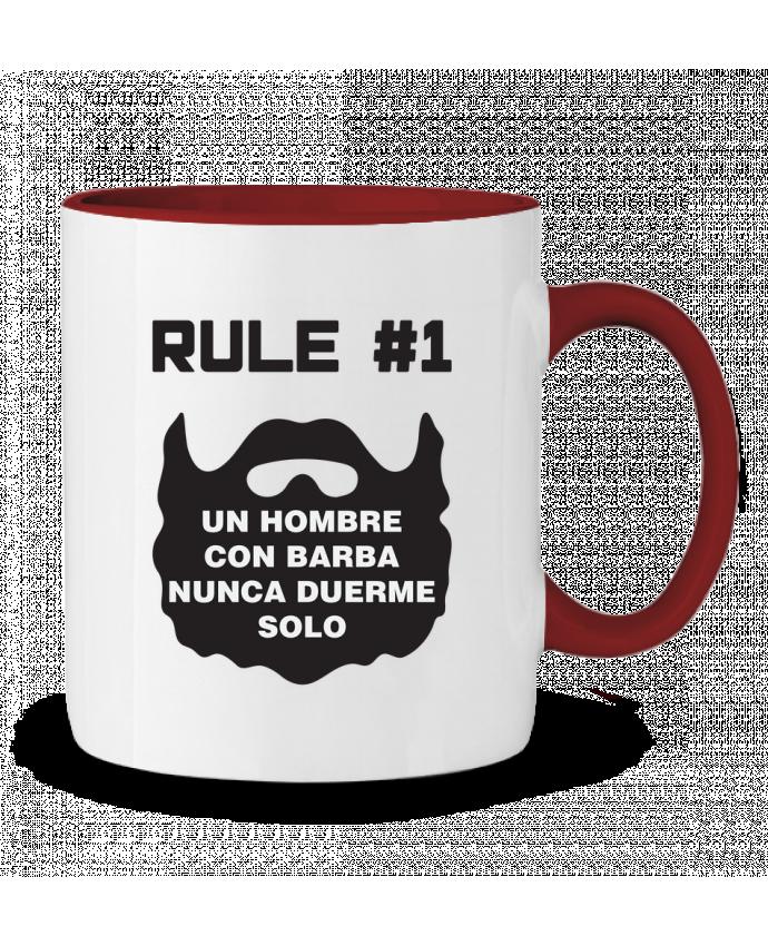 Taza Cerámica Bicolor Barbudo - Un hombre con barba nunca duerme solo tunetoo