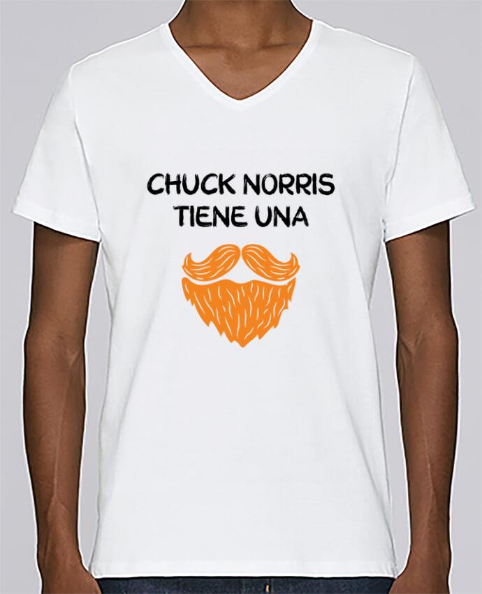 Camiseta Hombre Cuello en V Stanley Relaxes Chuck Norris - Barba por tunetoo
