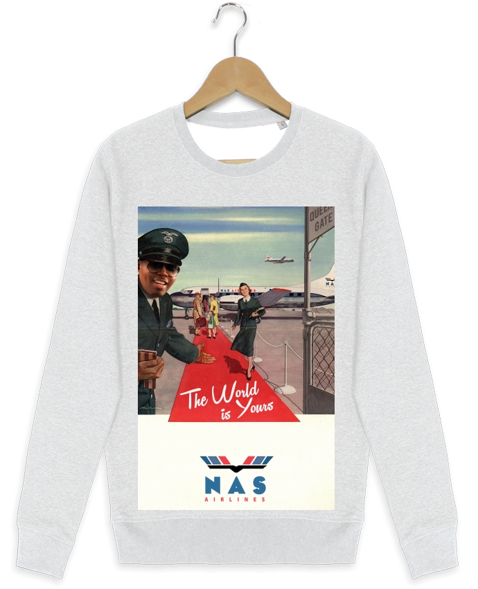 Sweat-shirt Stanley stella modèle seeks Nas Airlines por Ads Libitum