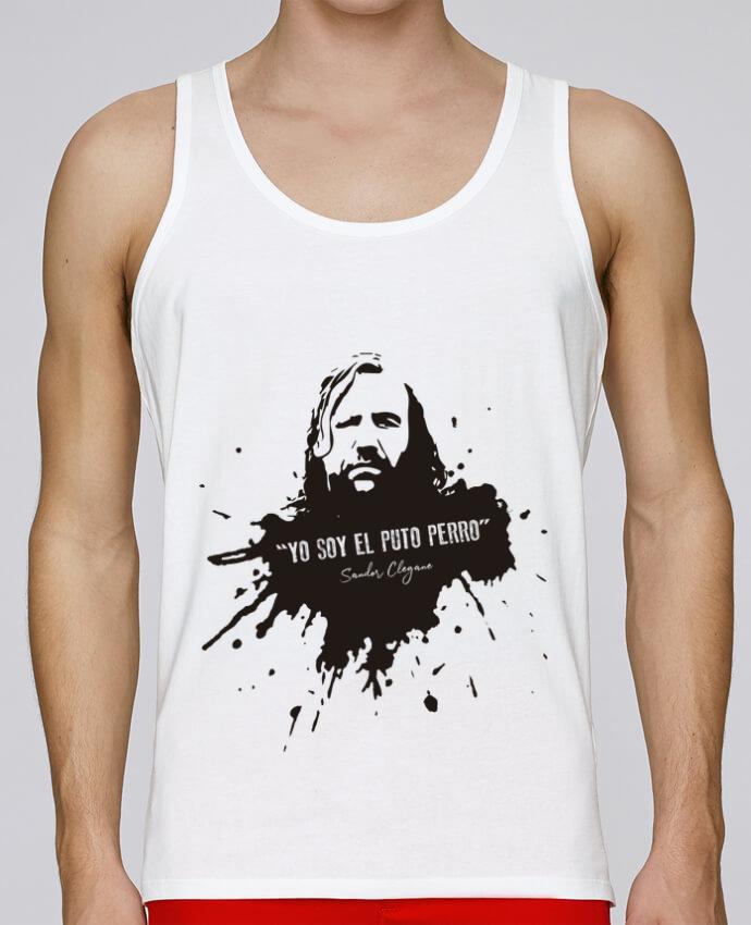 Camiseta de tirantes algodón orgánico hombre Stanley Runs El Puto Perro Sandor Clegane por Soul Dragon 100% coton bio