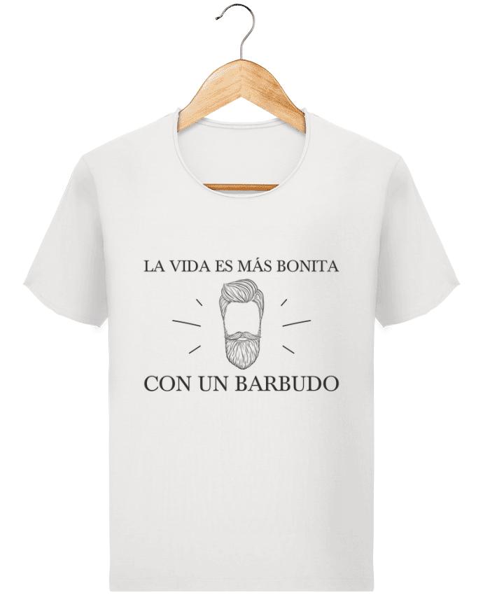 Camiseta Hombre Stanley Imagine Vintage La vida es más bonita con un barbudo por tunetoo