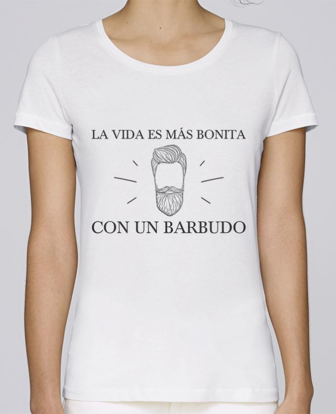 Camiseta Mujer Stellla Loves La vida es más bonita con un barbudo por tunetoo