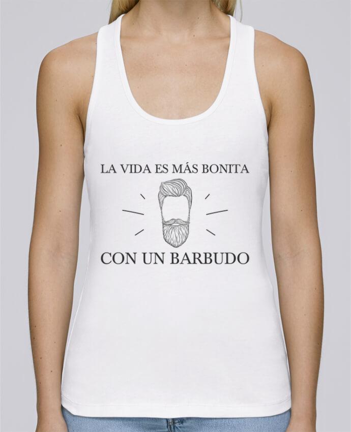 Camiseta de tirantes algodón orgánico mujer Stella Dreams La vida es más bonita con un barbudo por tunetoo en coton Bio