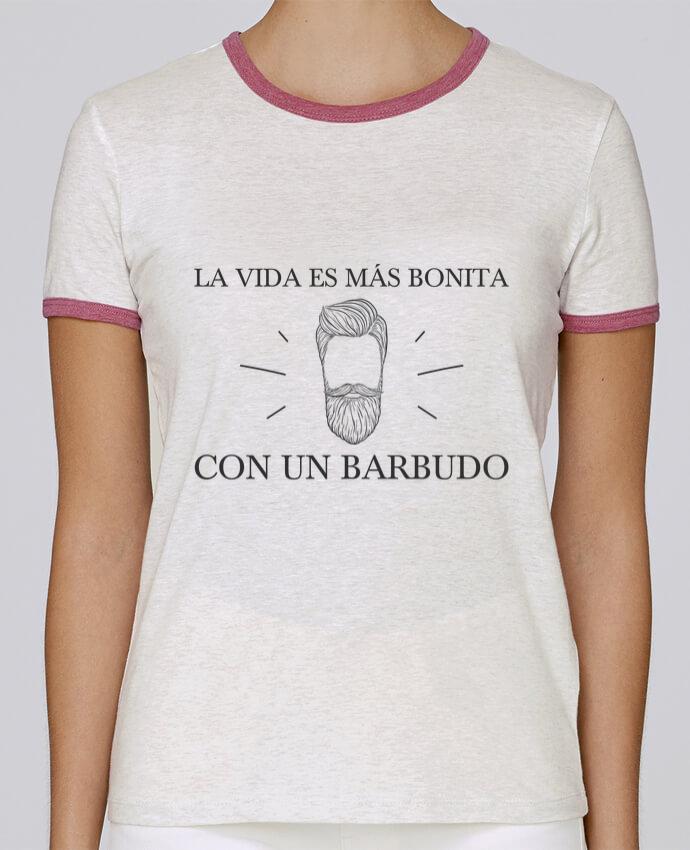Camiseta Mujer Stella Returns La vida es más bonita con un barbudo pour femme por tunetoo