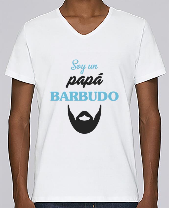 Camiseta Hombre Cuello en V Stanley Relaxes Soy un papá barbudo por tunetoo