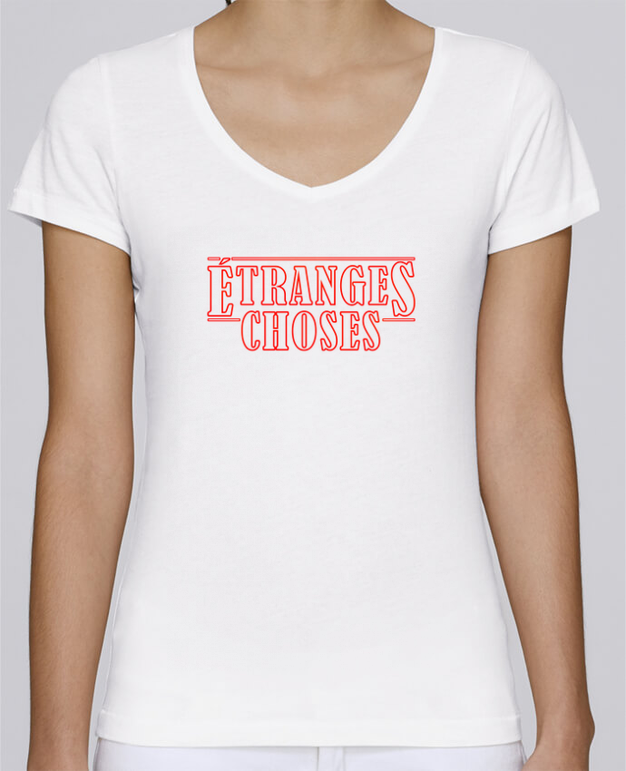 Camiseta Mujer Cuello en V Stella Chooses Etranges choses por Ruuud
