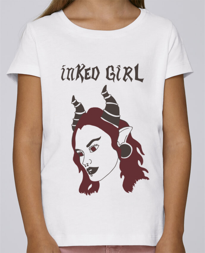 Camiseta Niña Stella Draws inked girl por Yazz