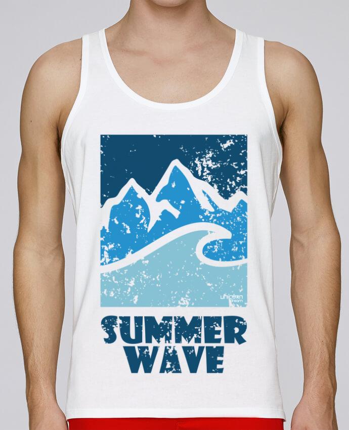 Camiseta de tirantes algodón orgánico hombre Stanley Runs SummerWAVE-02 por Marie 100% coton bio