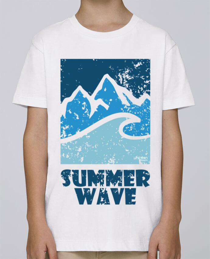 Camiseta de cuello redondo Stanley Mini Paint SummerWAVE-02 por Marie
