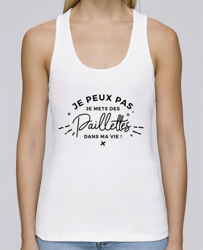 Camiseta de tirantes algodón orgánico mujer Stella Dreams Paillettes por Nana en coton Bio