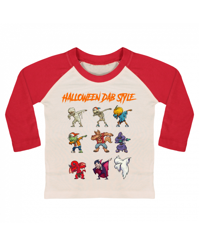 Camiseta Bebé Béisbol Manga Larga HALLOWEEN DAB STYLE por fred design