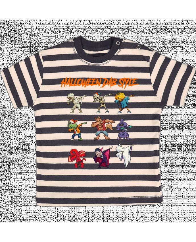 Camiseta Bebé a Rayas HALLOWEEN DAB STYLE por fred design