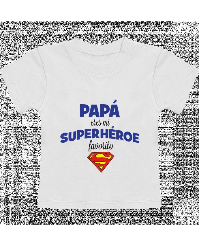 Camiseta Bebé Manga Corta Papa eres mi superhéroe favorito manches courtes du designer tunetoo