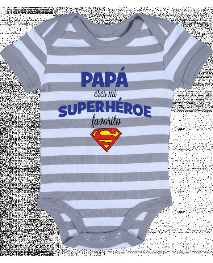 Body Bebé a Rayas Papa eres mi superhéroe favorito - tunetoo