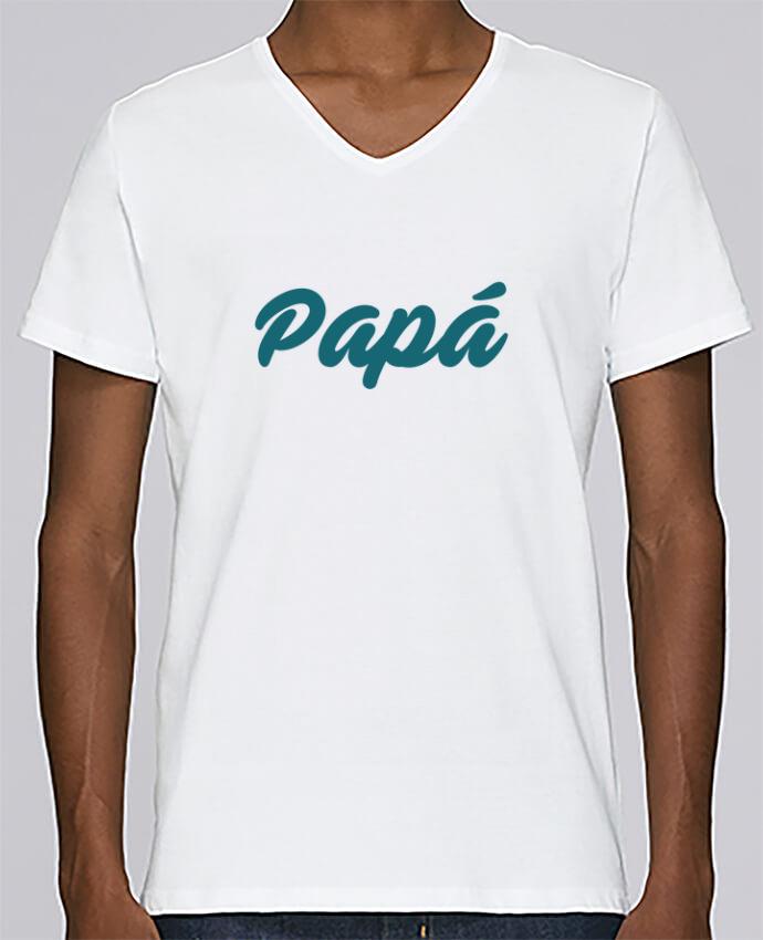 Camiseta Hombre Cuello en V Stanley Relaxes Papá / Niña de papá por tunetoo