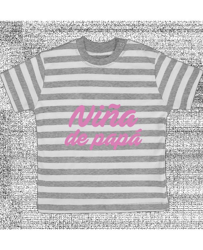 Camiseta Bebé a Rayas Papá / Niña de papá por tunetoo