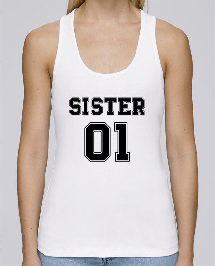 Camiseta de tirantes algodón orgánico mujer Stella Dreams Sister 01 por tunetoo en coton Bio