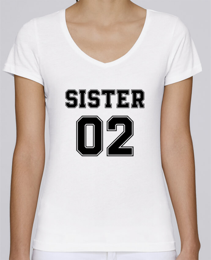 Camiseta Mujer Cuello en V Stella Chooses Sister 02 por tunetoo