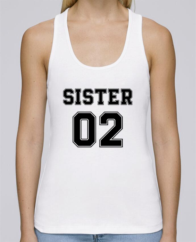 Camiseta de tirantes algodón orgánico mujer Stella Dreams Sister 02 por tunetoo en coton Bio