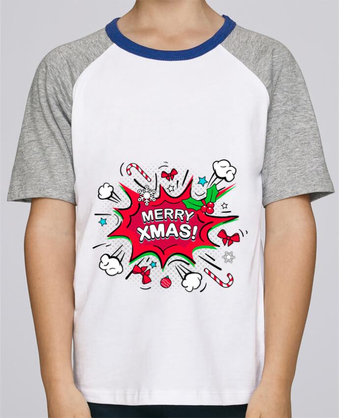 Camiseta de manga ranglan corta en contraste Stanley Mini Jump Short Sleeve Merry XMAS por MaxfromParis