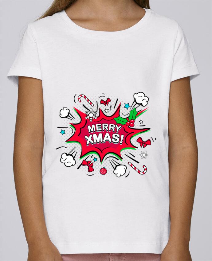Camiseta Niña Stella Draws Merry XMAS por MaxfromParis