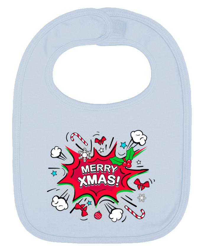 Babero Liso y Contrastado Merry XMAS por MaxfromParis