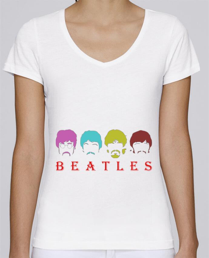 Camiseta Mujer Cuello en V Stella Chooses BEATLES por LOGOPAT
