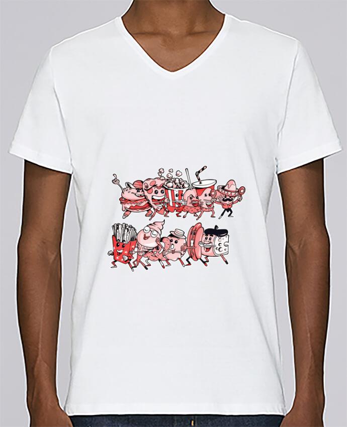 Camiseta Hombre Cuello en V Stanley Relaxes Snacking et fiesta por Tomi Ax - tomiax.fr