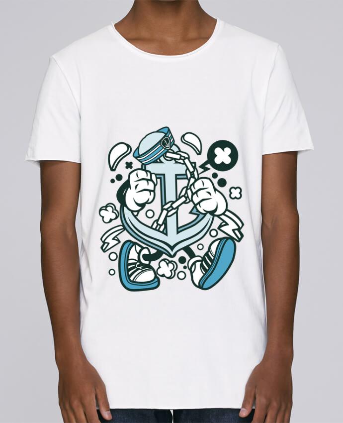 Camiseta Hombre Tallas Grandes Stanly Skates Ancre de bateau Cartoon   By Kap Atelier Cartoon por Kap Atelier