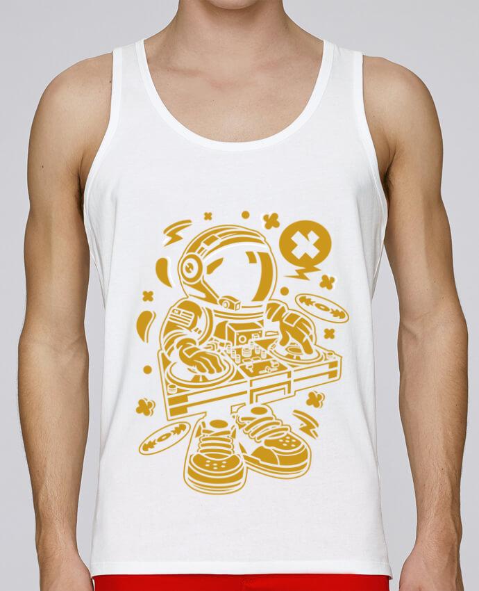 Camiseta de tirantes algodón orgánico hombre Stanley Runs Dj Astronaute Golden Cartoon | By Kap Atelier Cartoon por Kap Atelier 100% coton bio